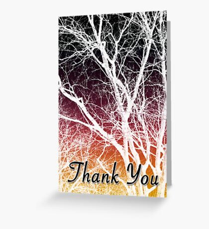 thank you tree Greeting Card