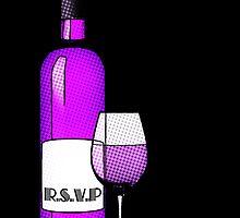 r.s.v.p. bottle of wine by maydaze