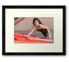Running red hot Framed Print
