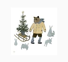 Bear, Christmas Tree and Bunnies Unisex T-Shirt