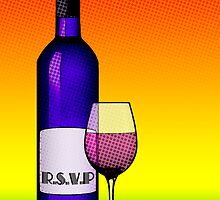 rsvp wine card by maydaze