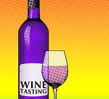 wine tasting card by maydaze