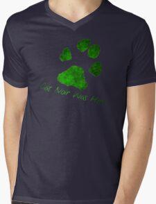 Cat Noir Was Here Mens V-Neck T-Shirt