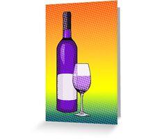comic glass of wine Greeting Card