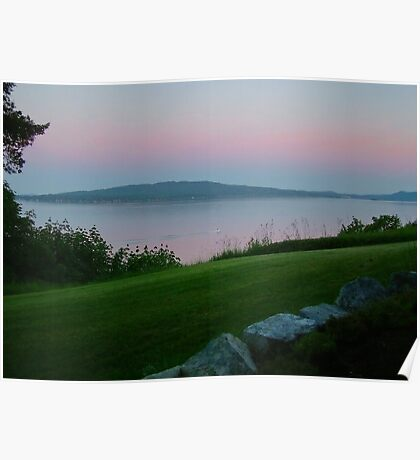 Twilight over MILL BAY Poster