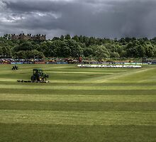 Durham CCC Cricket Pitch  by Andrew Pounder