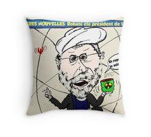 Rohani caricature politique de Iran Throw Pillow