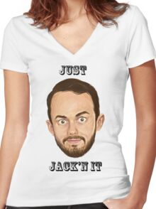 Just Jack'n it Women's Fitted V-Neck T-Shirt