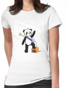 Panda Rocks! Womens Fitted T-Shirt
