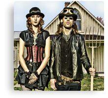 American GothSteam Canvas Print