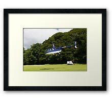 Robinson R44 II Raven Framed Print