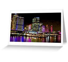 Vivid Circular Quay - Sydney - Australia Greeting Card