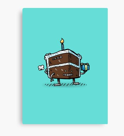 The Birthday Cake Bot Canvas Print