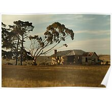 Joe Mortelliti Gallery - Old farm house, at Ceres, near Geelong, Victoria, Australia.  Poster