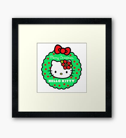 CHRISTMAS WITH HELLO KITY Framed Print