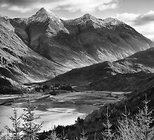 The Five Sisters of Kintail, Highland, Scotland by Justin Foulkes