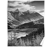 The Five Sisters of Kintail, Highland, Scotland Poster