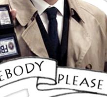 Somebody help Castiel Sticker