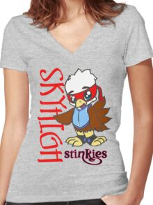 Stinkies Skyhigh Women's Fitted V-Neck T-Shirt