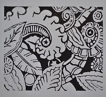 Lino Print by DoJoey