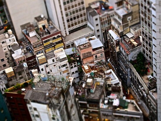 seen from above homes and houses of Hong Kong by LoveDutchArtEbs