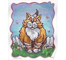 Animal Parade Ginger Cat Poster