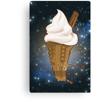 Dalek Ice-Cream a Treat in Space and Time Canvas Print