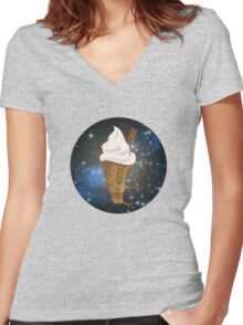 Dalek Ice-Cream a Treat in Space and Time Women's Fitted V-Neck T-Shirt