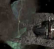 Asteroid City Mining at Big Dipper Nebulae by Sazzart