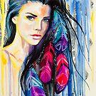 Colorful Feathers by Slaveika Aladjova