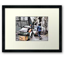 busy men in Hong Kong Framed Print