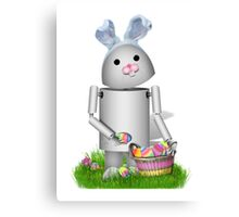 Cute Easter Robot -  Robo-x9  Canvas Print