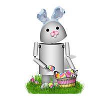 Cute Easter Robot -  Robo-x9  Photographic Print