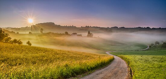Sun vs. Fog by Peter Zajfrid