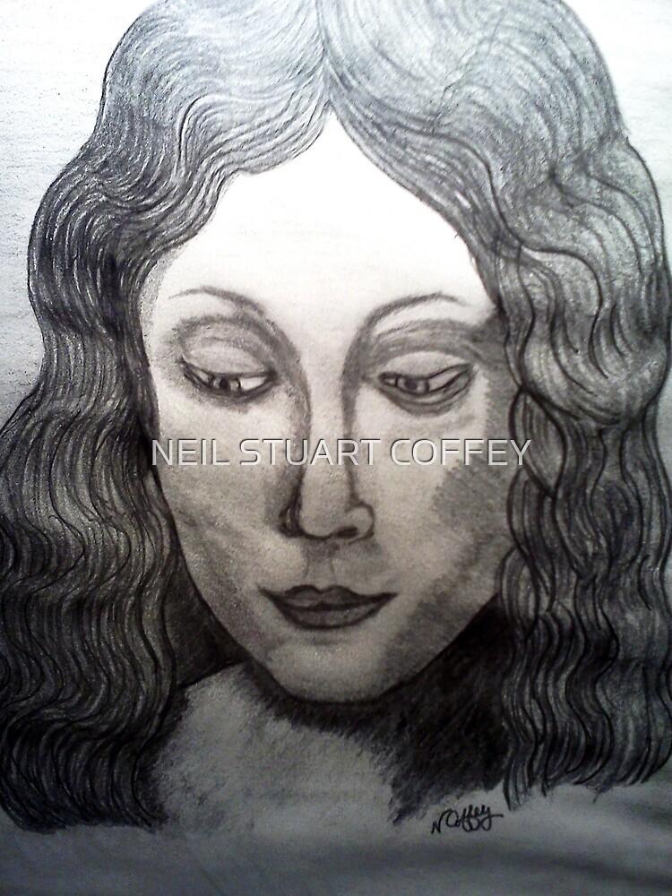 LEONARDO DAVINCIS HEAD OF A YOUNG WOMEN by NEIL STUART COFFEY