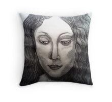 LEONARDO DAVINCIS HEAD OF A YOUNG WOMEN Throw Pillow