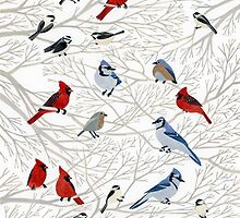 Winter Birds by Yuliya Art