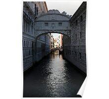 Bridge of Sighs in Venice Poster