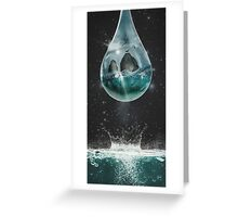 Universe's Tear Greeting Card