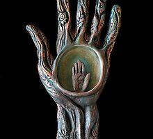 HAND Prints - art by M. Shiber by Mona Shiber