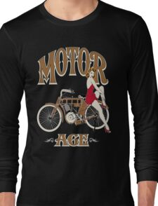 Motor Age Motorcycle Pinup Long Sleeve T-Shirt