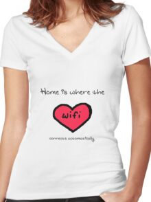 Home is Where... Women's Fitted V-Neck T-Shirt