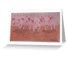 Piggies - Portraits for Charity (#1) Greeting Card