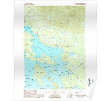 USGS TOPO Map New Hampshire NH Melvin Village 329659 1987 24000 Poster