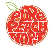 Pure peach fruit typography by aygeartist