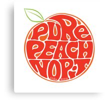 Pure peach fruit typography Canvas Print