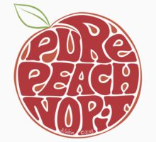 Pure Peach Fruit Artwork Small by aygeartist