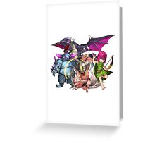 COC Charaters Greeting Card