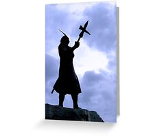 Inca King Appealing To The Gods Greeting Card