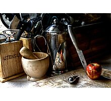 Chopping Board & Utensils Photographic Print